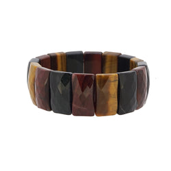 Tricolor Tiger Eye Faceted Bangle - Gaea | Crystal Jewelry & Gemstones (Manila, Philippines)