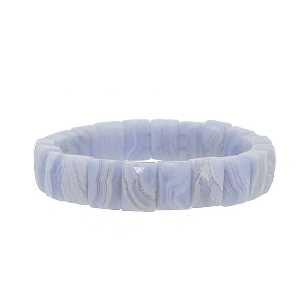 Blue Lace Chalcedony Bangle - Gaea | Crystal Jewelry & Gemstones (Manila, Philippines)