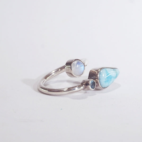 Larimar, Rainbow Moonstone, Blue Topaz - Gaea | Crystal Jewelry & Gemstones (Manila, Philippines)