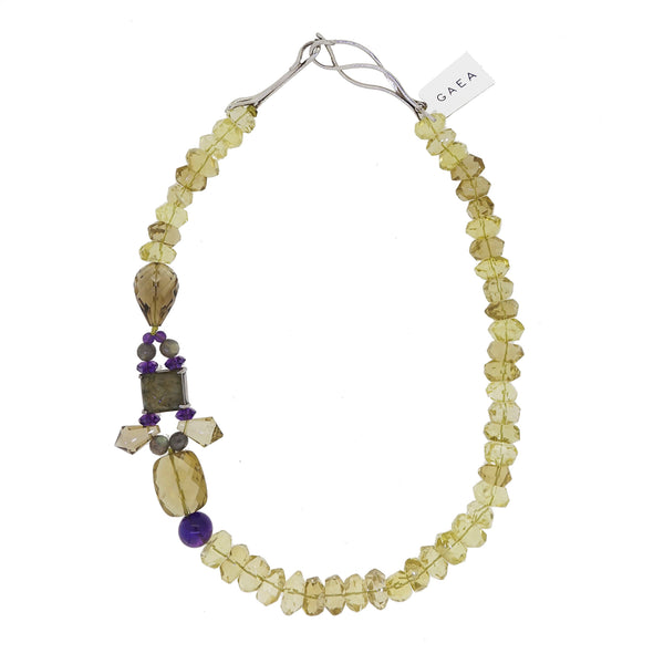 A-Grade Lemon Quartz with Labradorite and Amethyst - Gaea | Crystal Jewelry & Gemstones (Manila, Philippines)