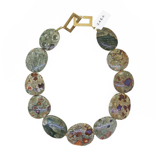Rainforest Jasper Flat Ovals - Gaea | Crystal Jewelry & Gemstones (Manila, Philippines)