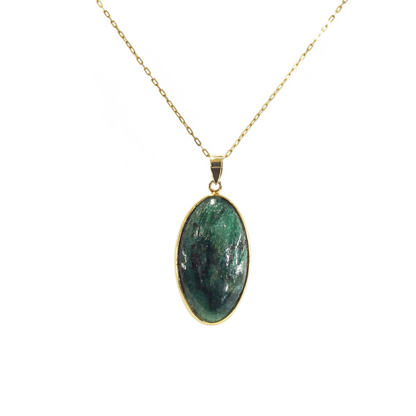 Chrome Diopside Oval - Gaea | Crystal Jewelry & Gemstones (Manila, Philippines)