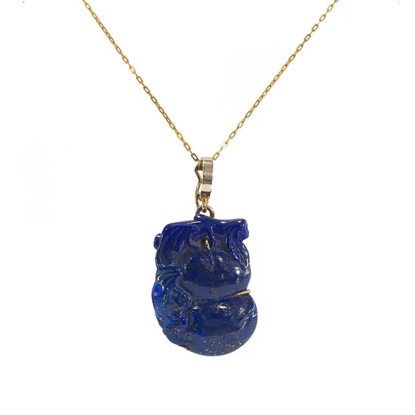 Carved Lapis Lazuli Bat - Gaea | Crystal Jewelry & Gemstones (Manila, Philippines)