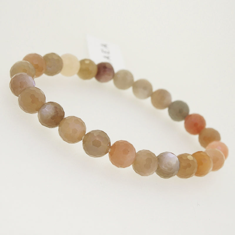 Tricolor Moonstone Faceted 8mm - Gaea | Crystal Jewelry & Gemstones (Manila, Philippines)
