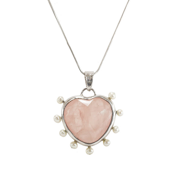 Rose Quartz with Freshwater Pearls - Gaea | Crystal Jewelry & Gemstones (Manila, Philippines)
