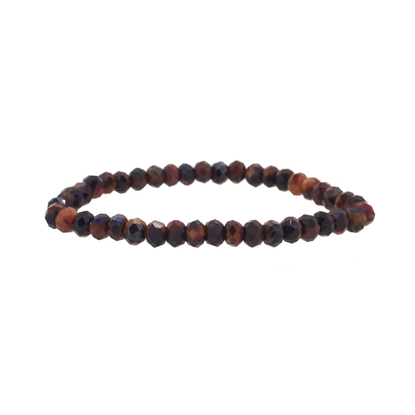 Red Tiger Eye Faceted Rondelle (S) - Gaea | Crystal Jewelry & Gemstones (Manila, Philippines)