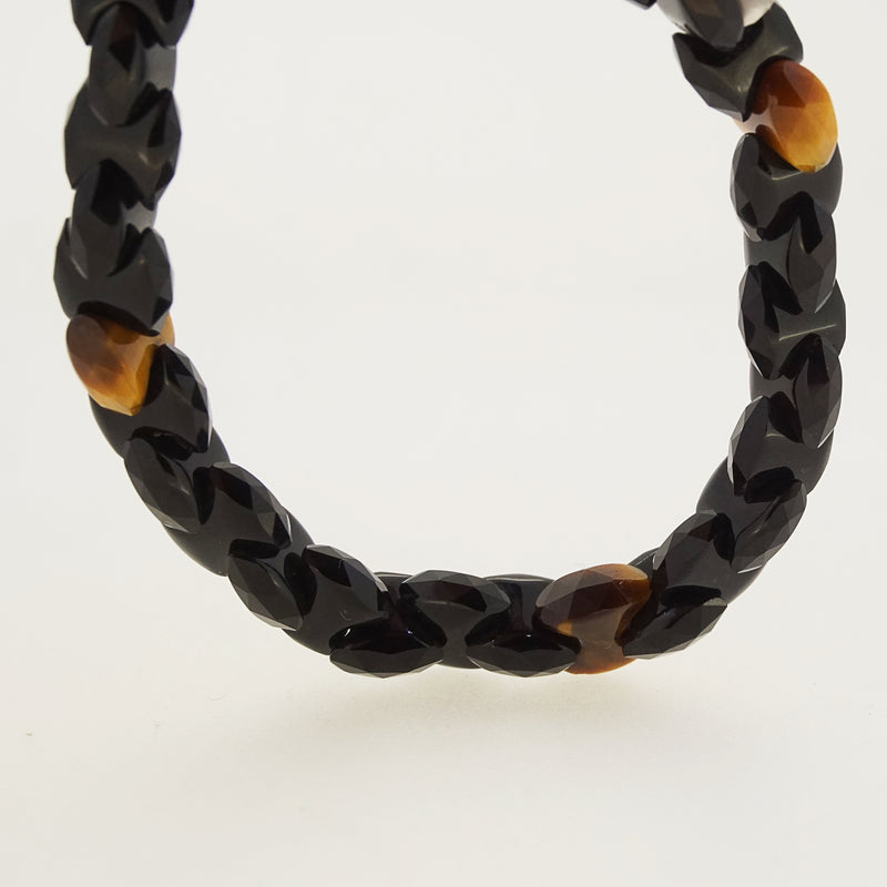 Black Onyx Links with Tiger Eye - Gaea | Crystal Jewelry & Gemstones (Manila, Philippines)
