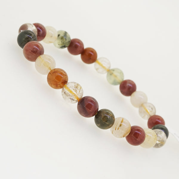 Multicolored Rutilated Quartz 8mm - Gaea | Crystal Jewelry & Gemstones (Manila, Philippines)