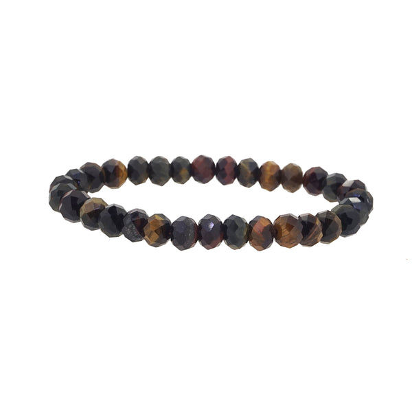 Multicolored Tiger Eye Faceted Rondelle (M) - Gaea | Crystal Jewelry & Gemstones (Manila, Philippines)