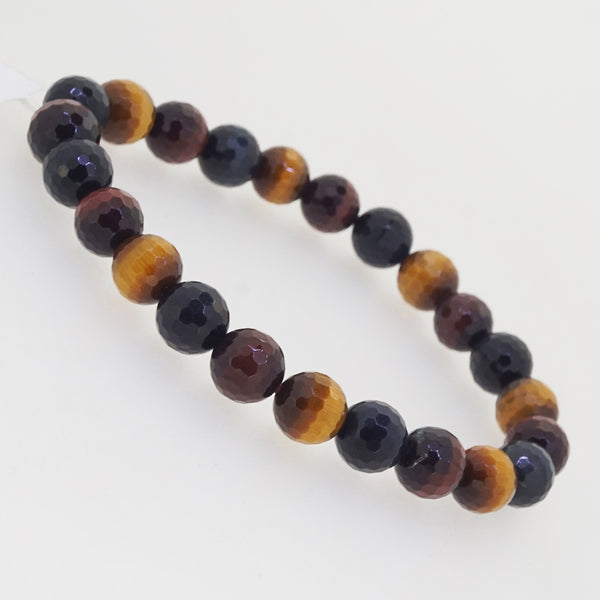 A-Grade Tricolor Tiger Eye Faceted 8mm - Gaea | Crystal Jewelry & Gemstones (Manila, Philippines)
