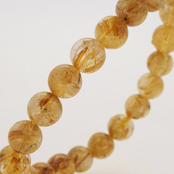 AA-Grade Golden Rutilated Quartz 8.5mm - Gaea | Crystal Jewelry & Gemstones (Manila, Philippines)