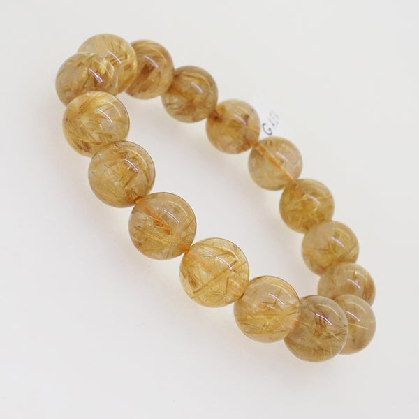 AA-Grade Golden Rutilated Quartz 13mm - Gaea | Crystal Jewelry & Gemstones (Manila, Philippines)