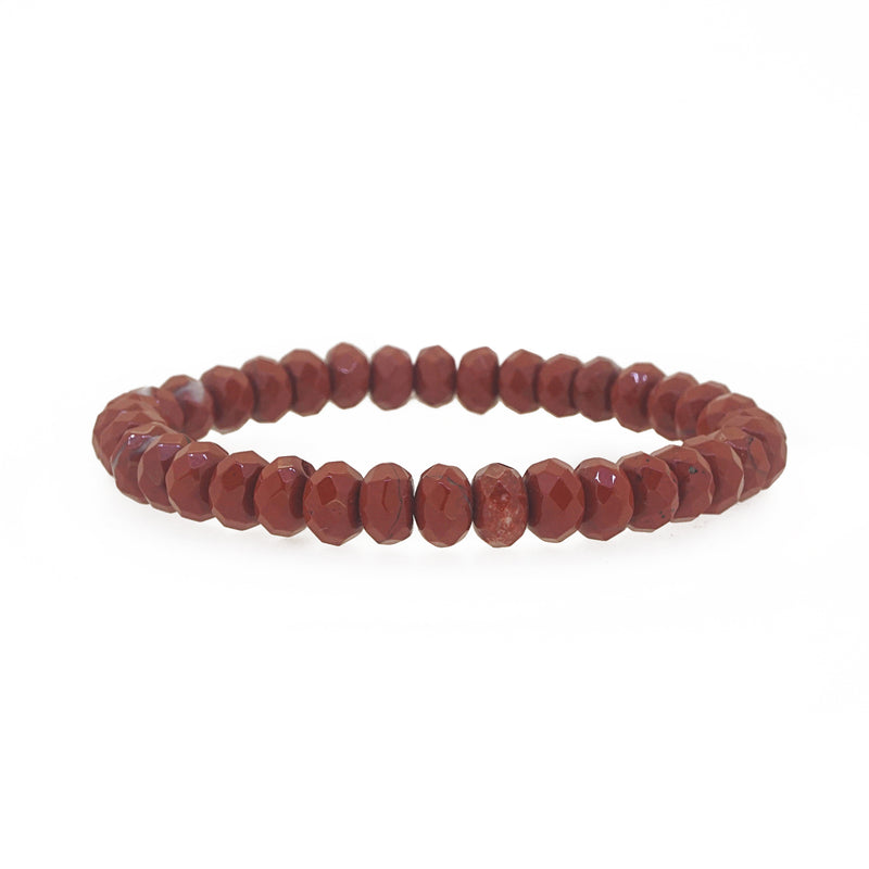 Red Jasper Faceted Rondelle - Gaea | Crystal Jewelry & Gemstones (Manila, Philippines)