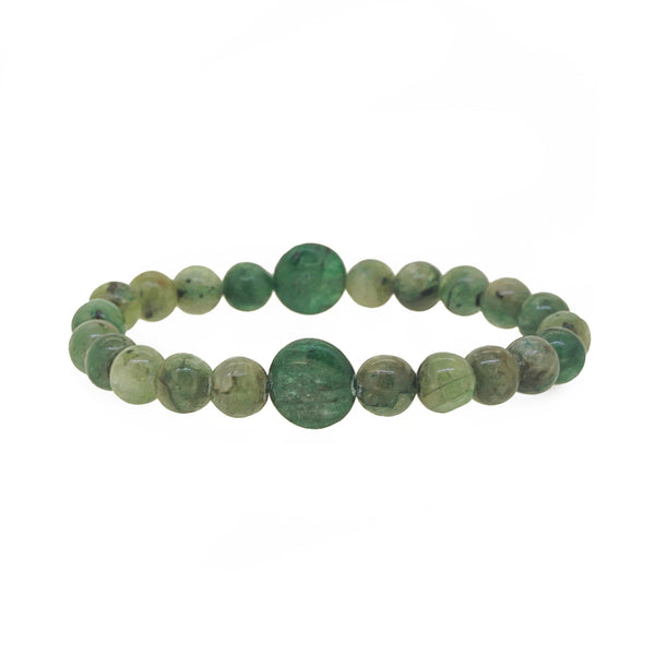 Green Kyanite 8mm with Coins - Gaea | Crystal Jewelry & Gemstones (Manila, Philippines)