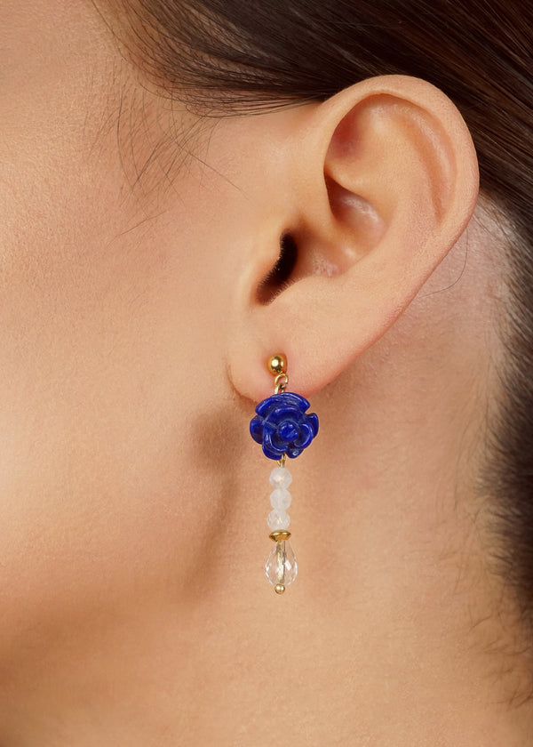 Lapis Lazuli Flower, Rainbow Moonstone, and Clear Quartz - Gaea | Crystal Jewelry & Gemstones (Manila, Philippines)
