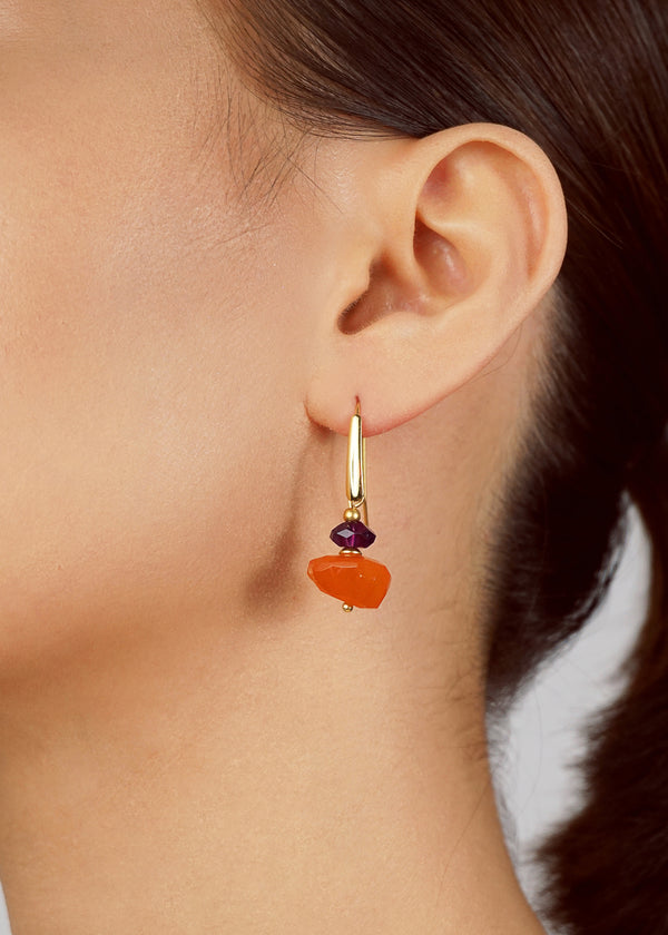 Carnelian Nugget and Amethyst - Gaea | Crystal Jewelry & Gemstones (Manila, Philippines)