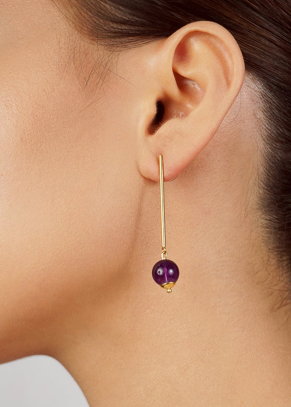 Amethyst 10mm Drop - Gaea | Crystal Jewelry & Gemstones (Manila, Philippines)