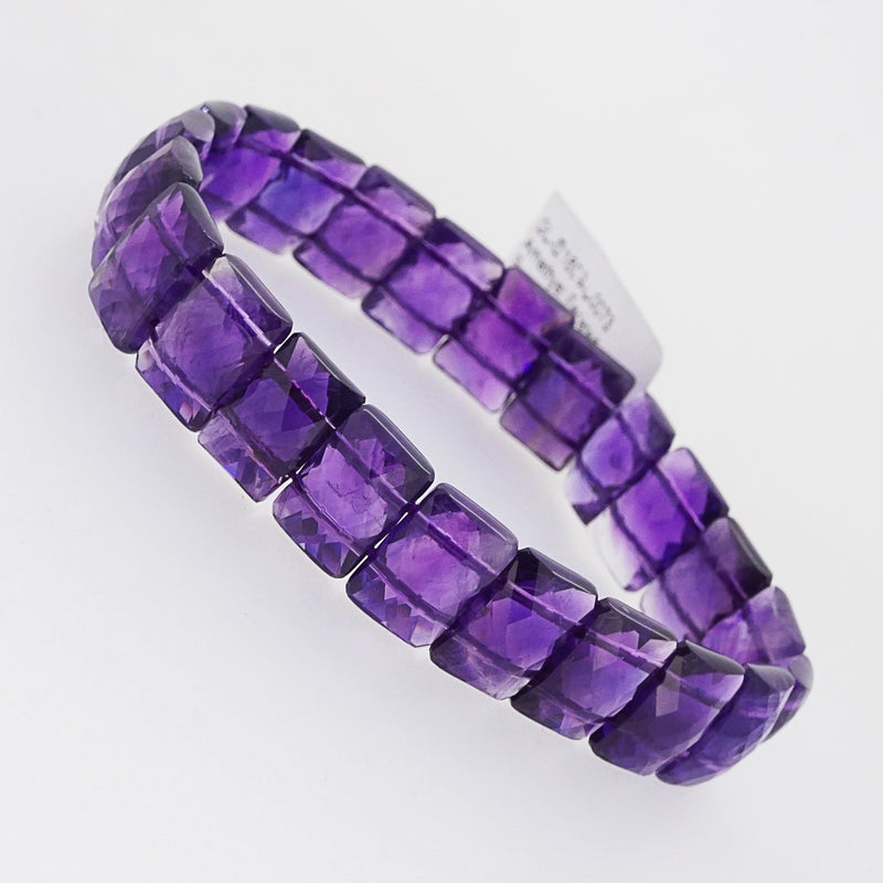 Amethyst Faceted Bangle - Gaea | Crystal Jewelry & Gemstones (Manila, Philippines)