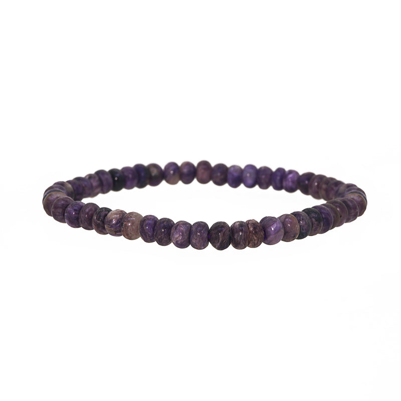 Charoite Rondelle - Gaea | Crystal Jewelry & Gemstones (Manila, Philippines)