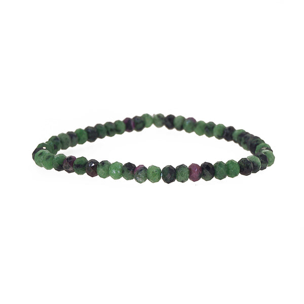 Ruby Zoisite Rondelle - Gaea | Crystal Jewelry & Gemstones (Manila, Philippines)