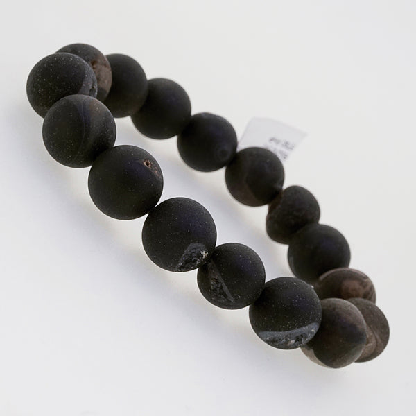 Matte Black Agate Drusy 12mm - Gaea | Crystal Jewelry & Gemstones (Manila, Philippines)