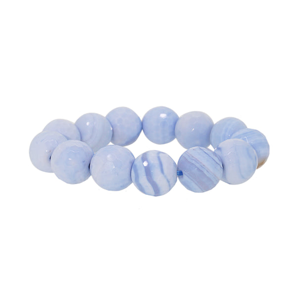 Blue Lace Chalcedony Faceted 14mm - Gaea | Crystal Jewelry & Gemstones (Manila, Philippines)