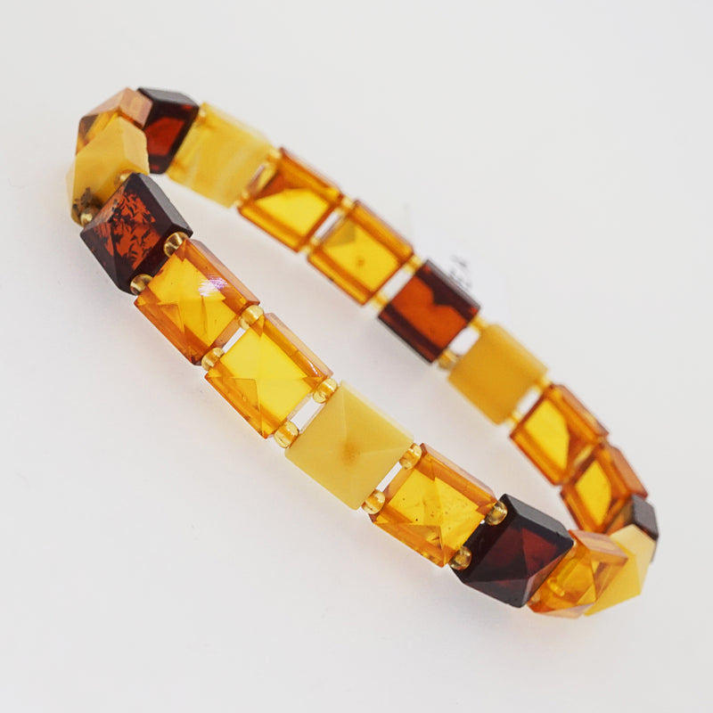 Baltic Amber Faceted Square Bangle - Gaea | Crystal Jewelry & Gemstones (Manila, Philippines)