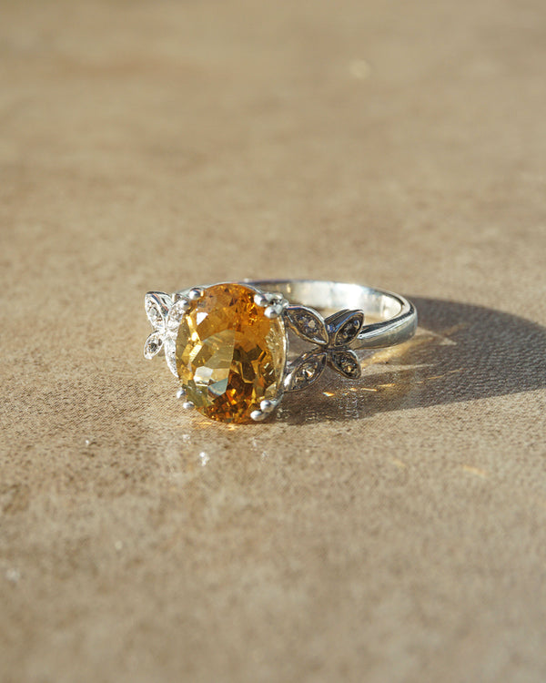 Gem-Grade Citrine Oval with White Topaz