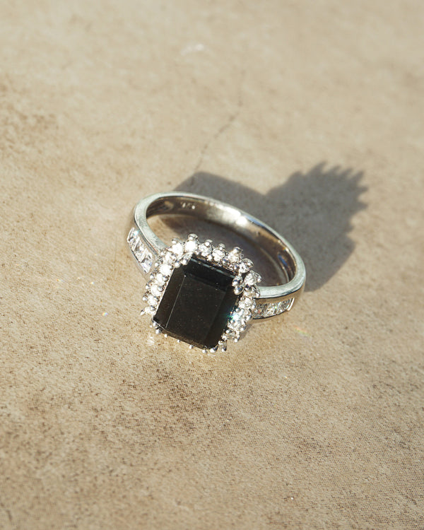 Black Onyx with White Topaz and Cubic Zirconia