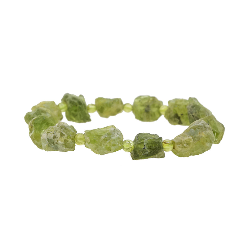Peridot Raw with Polished 4mm - Gaea | Crystal Jewelry & Gemstones (Manila, Philippines)