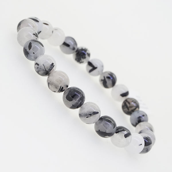 Black Tourmalinated Quartz 8mm - Gaea | Crystal Jewelry & Gemstones (Manila, Philippines)