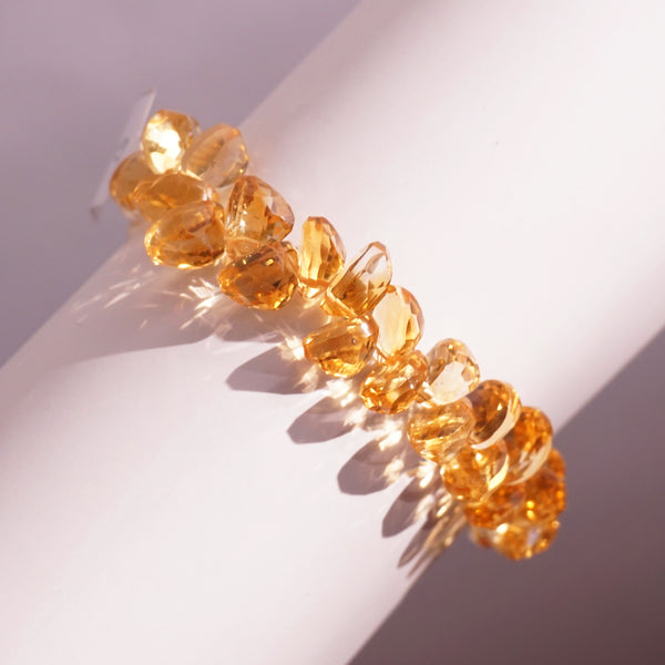Gem-Grade Citrine Faceted Ovals Briolette (M) - Gaea | Crystal Jewelry & Gemstones (Manila, Philippines)