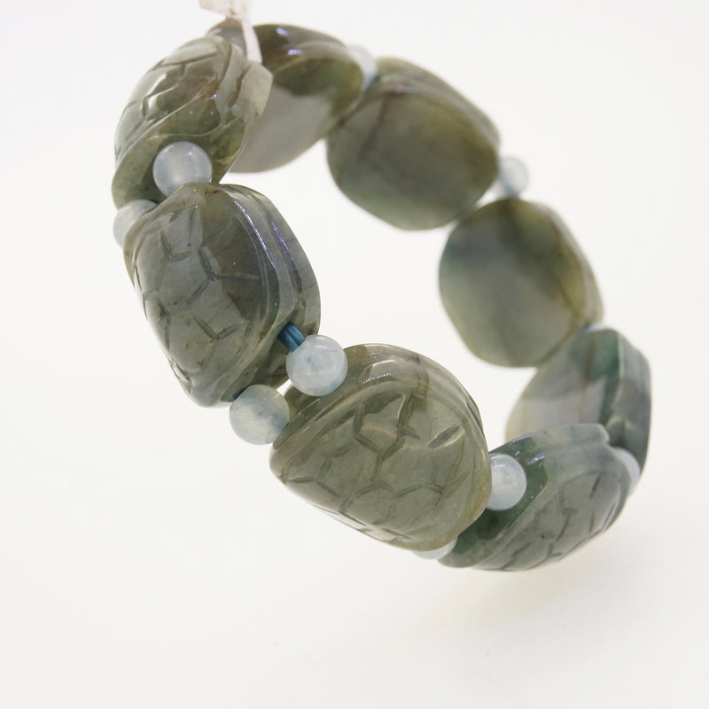 Burma Jade Carved Tortoise Bangle - Gaea | Crystal Jewelry & Gemstones (Manila, Philippines)