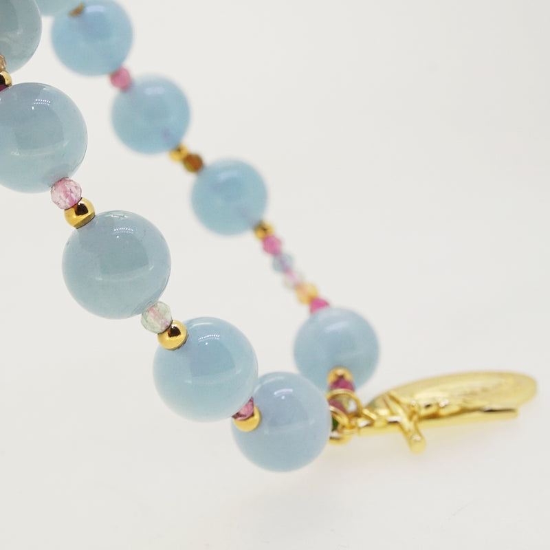 Aquamarine and AA-Grade Multicolored Tourmaline Rosary Bracelet 10mm - Gaea | Crystal Jewelry & Gemstones (Manila, Philippines)