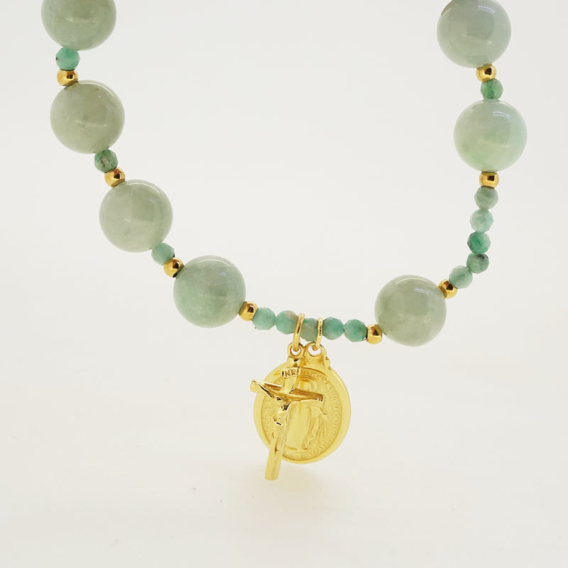 Jade and Emerald Rosary Bracelet 10mm - Gaea | Crystal Jewelry & Gemstones (Manila, Philippines)