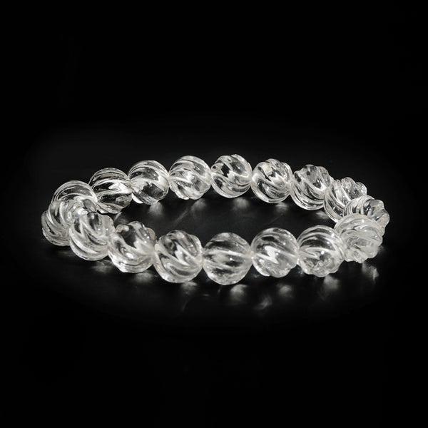 Clear Quartz Carved 12mm
