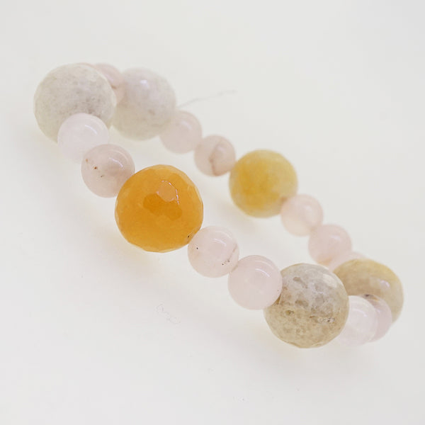 Rose Quartz with Calcite - Gaea | Crystal Jewelry & Gemstones (Manila, Philippines)