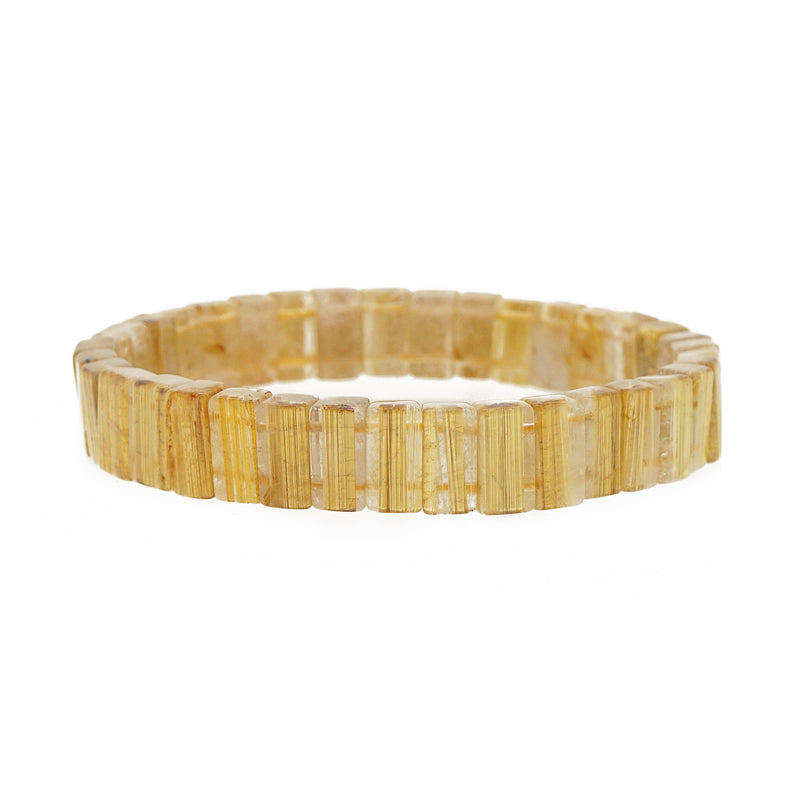 AA-Grade Golden Rutilated Quartz Bangle - Gaea | Crystal Jewelry & Gemstones (Manila, Philippines)