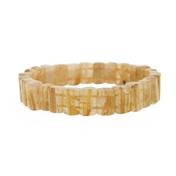 A-Grade Golden Rutilated Quartz Bangle - Gaea | Crystal Jewelry & Gemstones (Manila, Philippines)