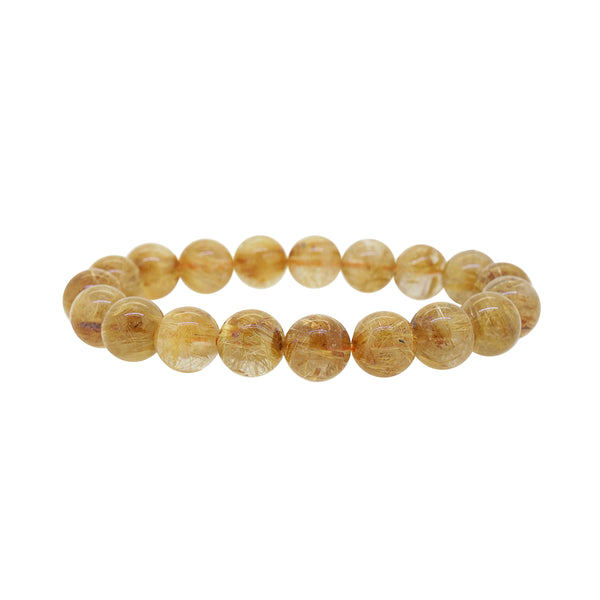 AA-Grade Golden Rutilated Quartz 10mm - Gaea | Crystal Jewelry & Gemstones (Manila, Philippines)