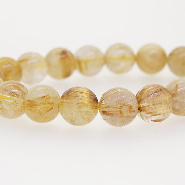 Golden Rutilated Quartz 10mm - Gaea | Crystal Jewelry & Gemstones (Manila, Philippines)