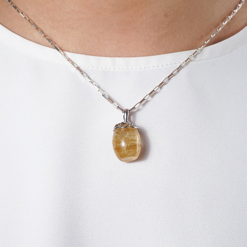 A-Grade Golden Rutilated Quartz Cylinder - Gaea | Crystal Jewelry & Gemstones (Manila, Philippines)
