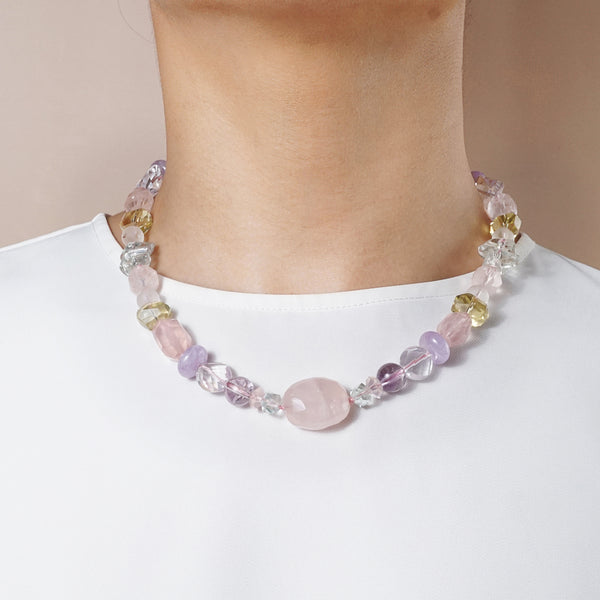 Rose Quartz, Lemon Quartz, Prasiolite, Clear Quartz, Amethyst - Gaea | Crystal Jewelry & Gemstones (Manila, Philippines)