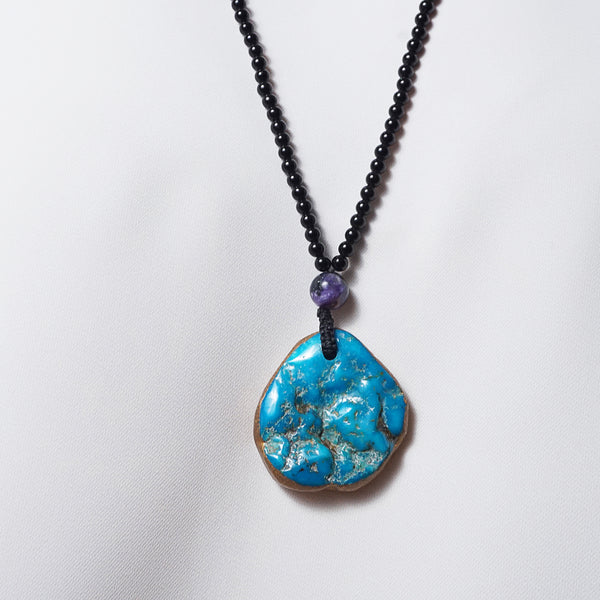 Turquoise with Black Tourmaline - Gaea | Crystal Jewelry & Gemstones (Manila, Philippines)