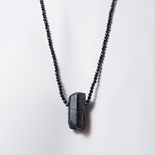 All Black Tourmaline (Long) - Gaea | Crystal Jewelry & Gemstones (Manila, Philippines)