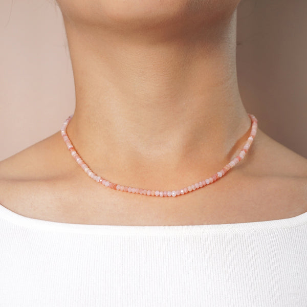 Pink Opal Faceted Rondelle 4mm - Gaea | Crystal Jewelry & Gemstones (Manila, Philippines)