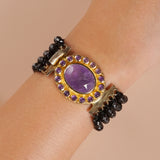 Black Spinel Multistrand with Amethyst Clasp - Gaea | Crystal Jewelry & Gemstones (Manila, Philippines)