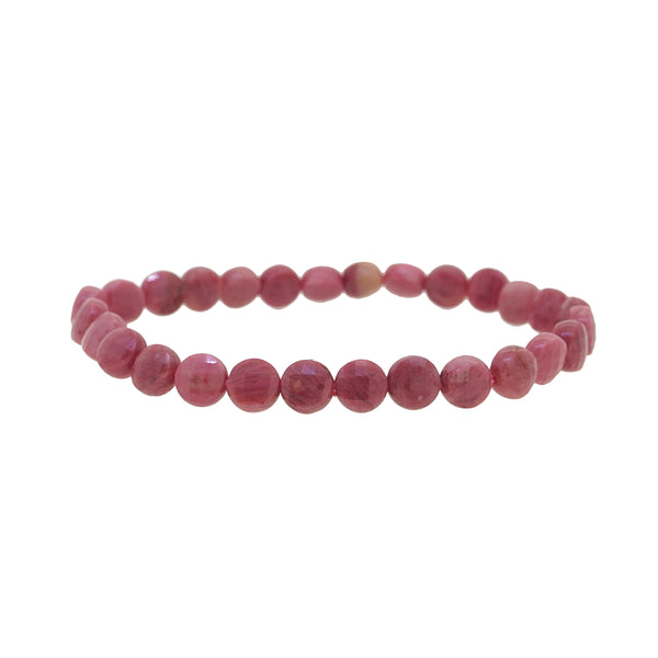 Rhodonite Faceted Circle 7mm - Gaea | Crystal Jewelry & Gemstones (Manila, Philippines)