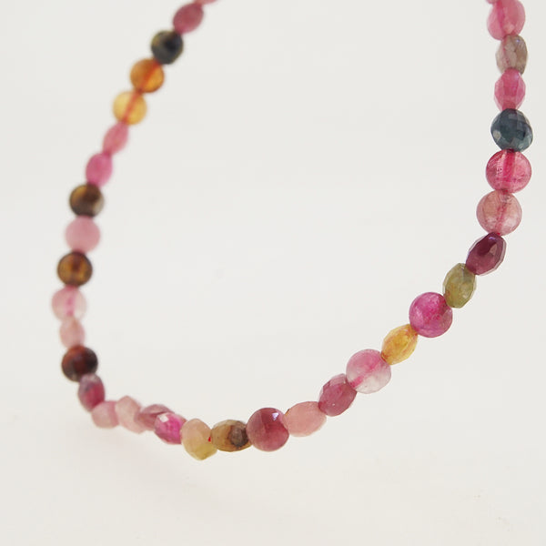 Multicolored Tourmaline Faceted Coin 4mm - Gaea | Crystal Jewelry & Gemstones (Manila, Philippines)