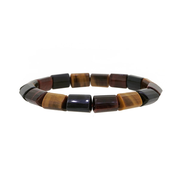 Tricolor Tiger Eye Faceted Cylinder - Gaea | Crystal Jewelry & Gemstones (Manila, Philippines)